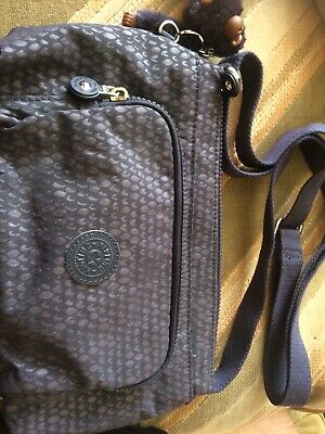 Kipling FRIDA Shoulder Bag Deep Purple With pauline Monkey Handbag With Tag
