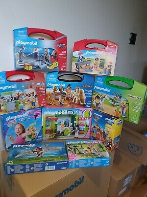 Playmobil Carry Cases, Packs, Boxes X 10 New Clearance Bargain SRP £120ish set10