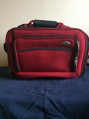 Samsonite Travel Tote Bag -Straps ~ Red - Carry On Bag-New no tags