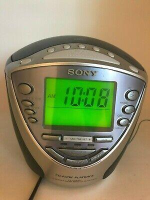 Sony Dream Machine ICF-CD843V CD Player AM/FM/Weather Alarm Clock Radio VERYNICE