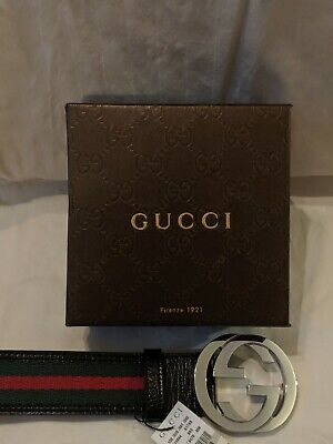 Authentic Gucci Belt - Ribbon Green & Red 105cm/42in Fits 36-38