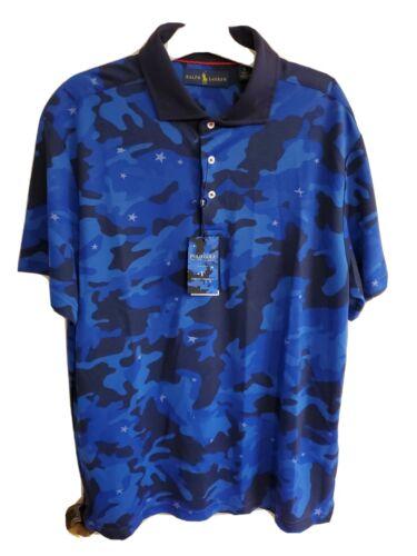 Polo Ralph Lauren Justin Thomas Blue Camo Golf Shirt Large Limited Edition - $40.00