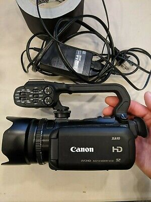 Canon XA10 Camcorder 64GB with genuine Top Handle -  Black