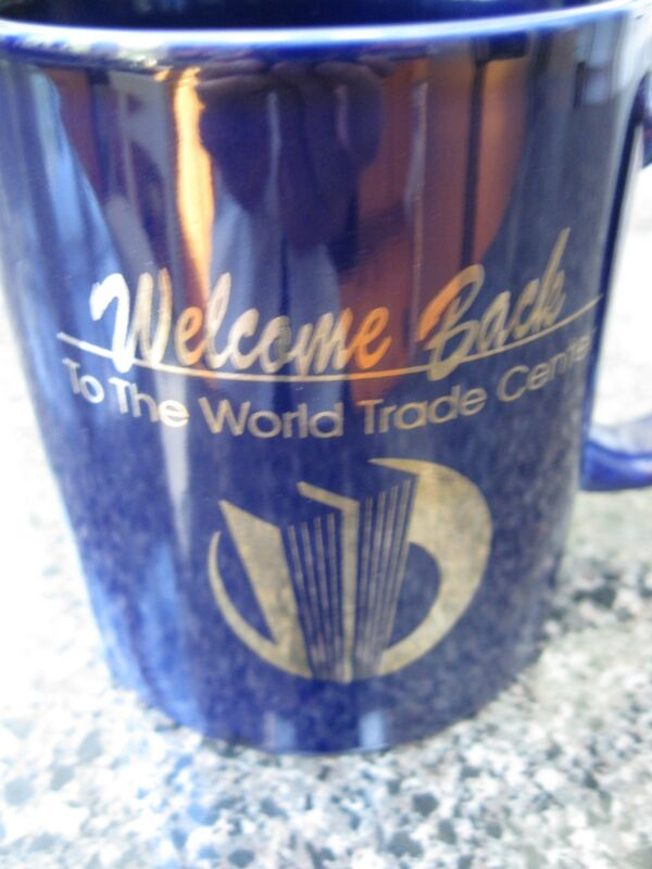 """Welcome Back to the World Trade Center"" Coffee Cup, 1993, Unused Mint Condition"