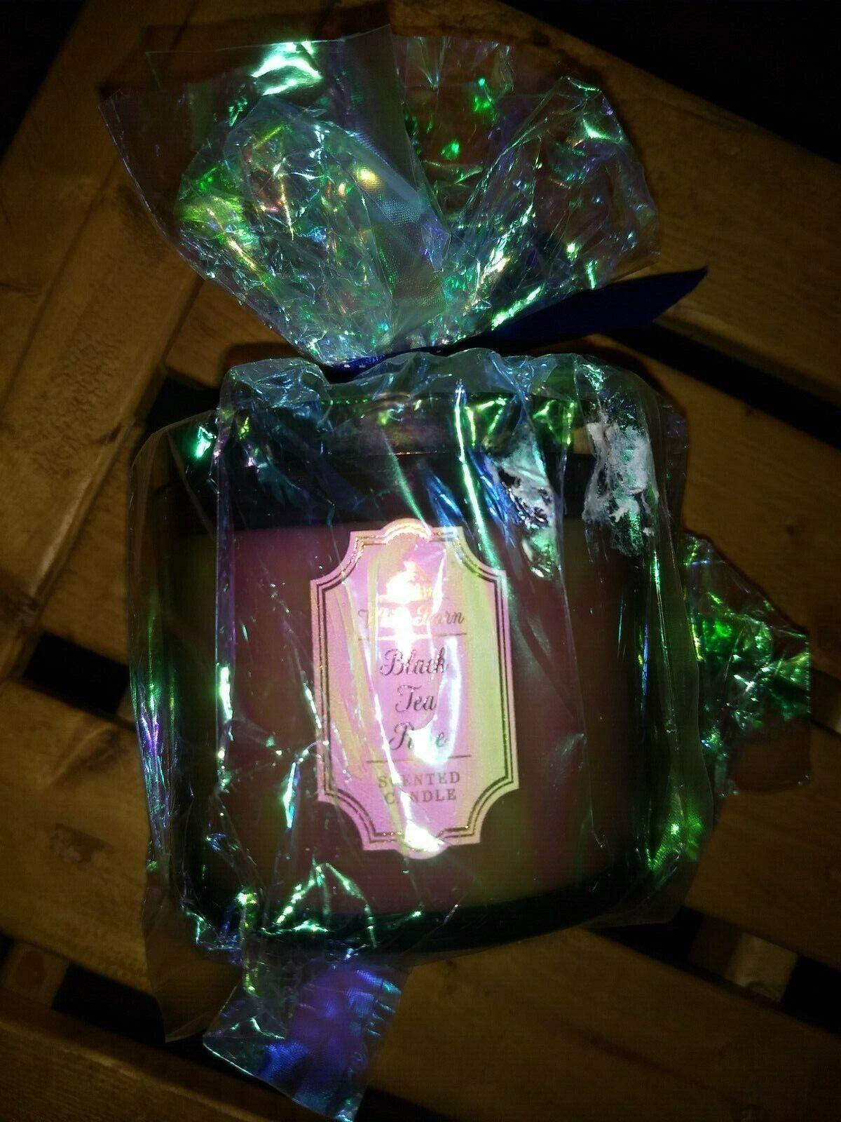 Bath & Body Works NWT 3 Wick Candle BLACK TEA ROSE 14.5oz