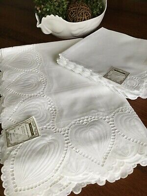 Sferra Easy Care Tablecloth Embroidered 70X126 18 Napkins #4215 New Stunning