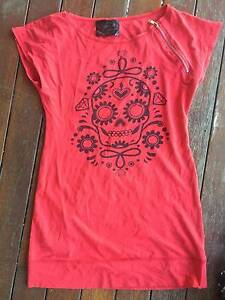 SOURPUSS t-shirt style dress RED (L/12) Kangaroo Point Brisbane South East Preview