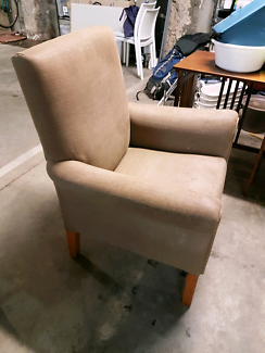solid arm or occasional chair