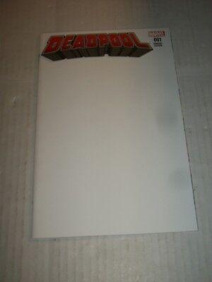 Marvel DEADPOOL #1 (2015) Blank Cover Variant NM