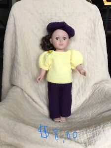 """American Doll Hand Knit Clothes - 18"""" Doll"""