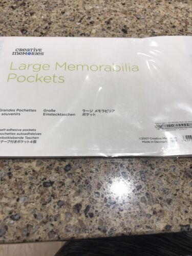 CREATIVE MEMORIES Large Memorabilia Pockets - Set Of 4 - 9 X 5 - $5.99