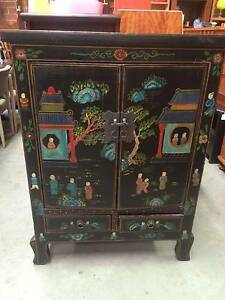 Cabinet Oriental,Mongolian,Sideboard,Furniture,Antique,WE DELIVER Brunswick Moreland Area Preview