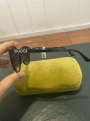 Authentic GUCCI GG0729SA 001 Black Grey Gradient Women's Sunglasses 56 mm