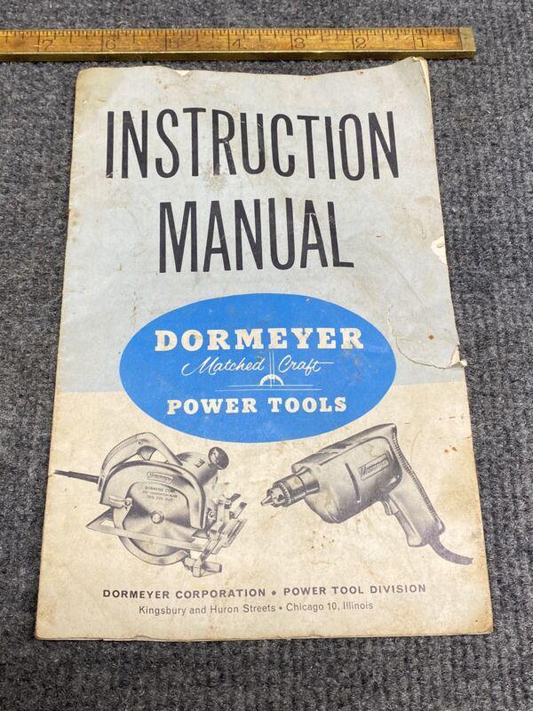Dormeyer Power tools instruction manual