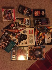 Star Wars books, puzzle and VHS