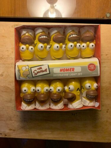 The Simpsons Homer Decorative 10 Light Set NEW IN BOX 2002