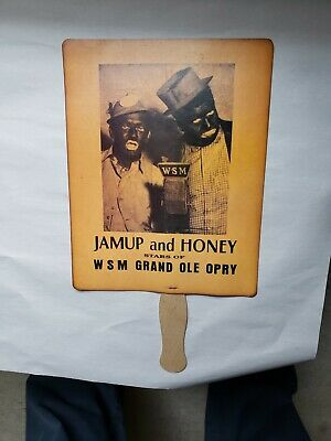 VINTAGE WSM GRAND OLE OPRY JAMUP AND HONEY FAN