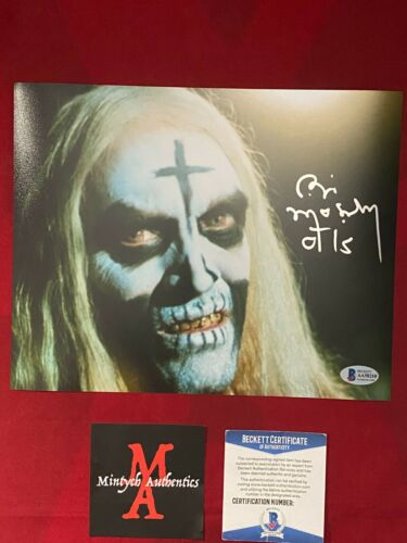 BILL MOSELEY AUTOGRAPHED SIGNED 8x10 PHOTO! HOUSE OF 1,000 CORPSES! BECKETT!