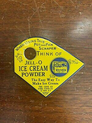 Jell-O Ice Cream Powder Pot Pan Scraper Kitchen Metal Sign Vintage Look?