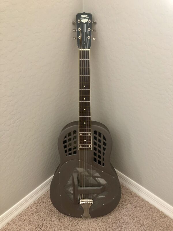 National Reso-Phonic Polychrome Tricone Roundneck Steel Resonator Guitar OHSC