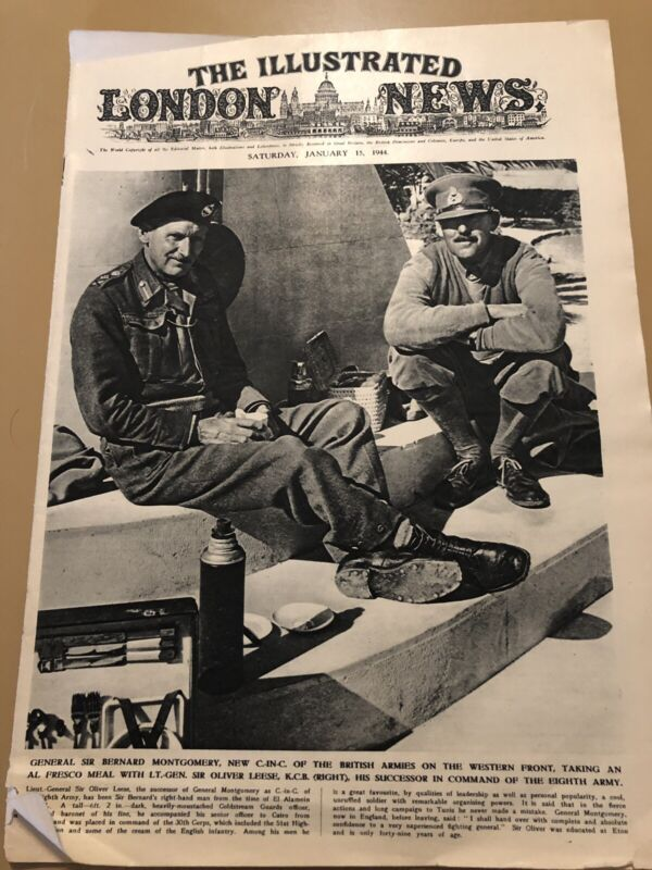 WW2 Illustrated London March 11, 1944 News Germany Secret Weapon  Montgomery