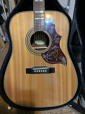 Epiphone Hummingbird Acoustic Guitar - Vgc See Pics + Hard Case