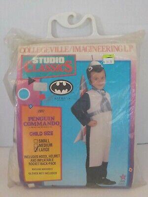 N Vintage 90's Collegeville Batman Returns Penguin Commando LG Halloween Costume