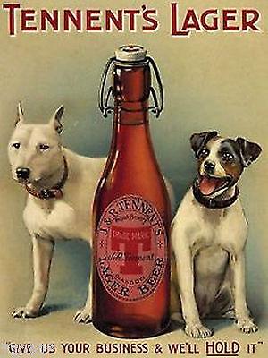 Nostalgic Art Tennents Rodamientos Perros Con Cerveza Imán Imanes de Cocina