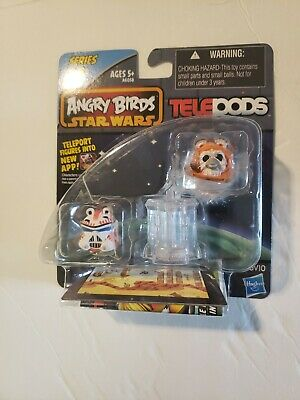 ANGRY BIRDS STAR WARS Wicket Warrick and Shock Trooper Series 2 TELEPODS