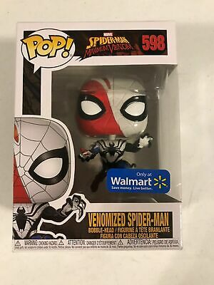 Funko Pop! Marvel VENOMIZED SPIDER-MAN! Walmart Exclusive! box not mint
