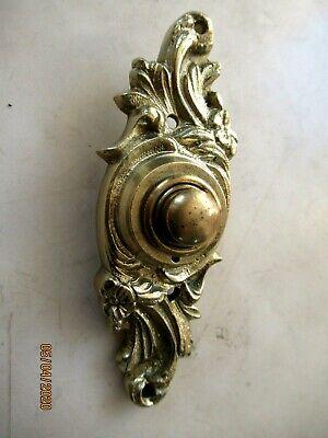 SUPERB ANTIQUE CAST BRASS ORNATE DOOR BELL