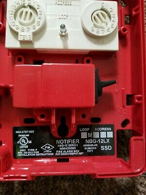 Notifier Nbg-12lx Addressable Fire Alarm Pull Station