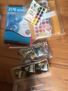 Watercolour art supplies