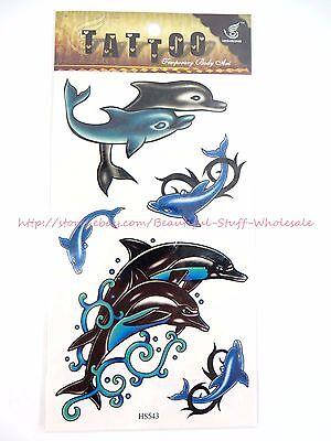 US SELLER-dolphin sea life temporary tattoo men women unisex Tattoos for Adults  - Sea Tattoo