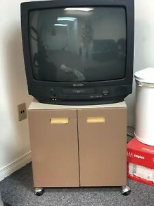 VCR TV combo with cabinet