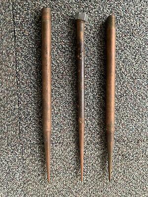 3!! Vintage solid copper lightning rod spike finial rod tip    K42