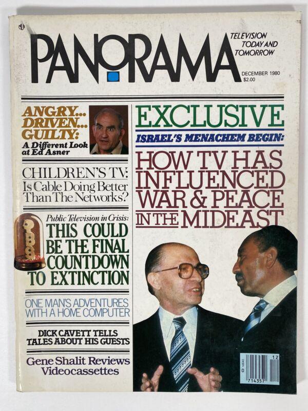 1980 Dec PANORAMA MAGAZINE - Ed Asner - Dick Cavett - Israel - Home Computer