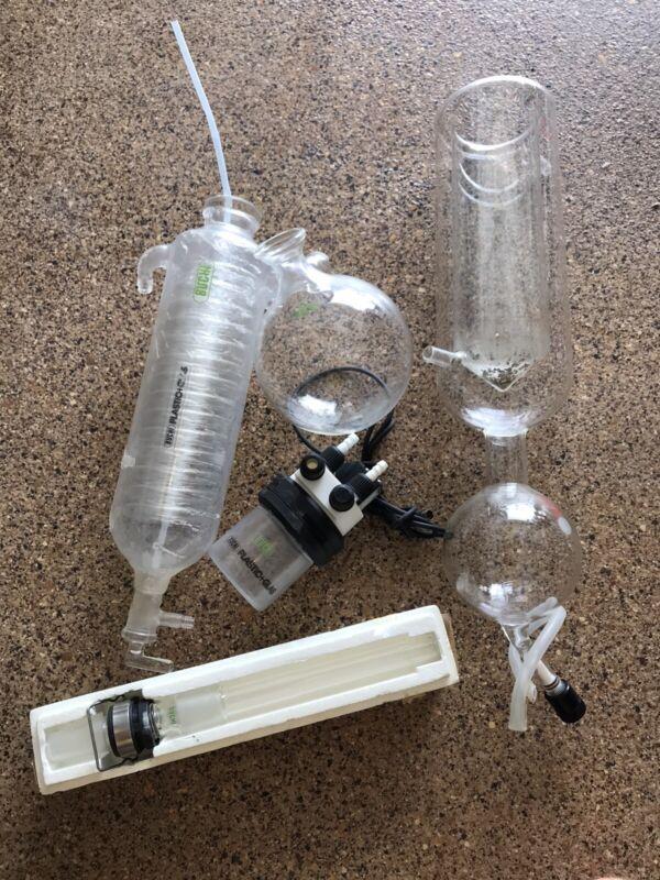 Buchi Rotary Evaporator Condenser Coil Flask Glassware