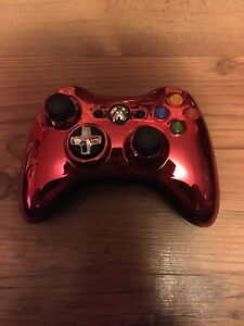 Xbox 360 wireless red chrome controller