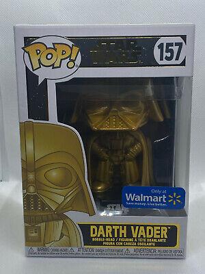 Funko POP! ~ Star Wars ~ Darth Vader (Gold Matte) ~ Walmart Excl.