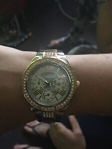 Guess rose gold and silver women's watch Mortdale Hurstville Area Preview