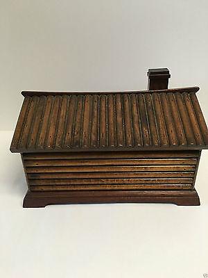 Figural Log Cabin Cigar Box