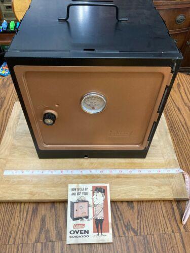 1960s Coleman Folding Camp Oven 5010A700 W/ Box & Manual --UNUSED-- Baking Roast