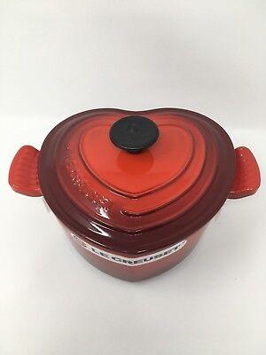 NIB Le Creuset Cast-Iron Heart-Shaped Dutch Oven, 2-Qt -  Brand New