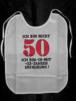 50.Geburtstag Lätzchen für Erwachsene witzige Geschenke Geburtstag