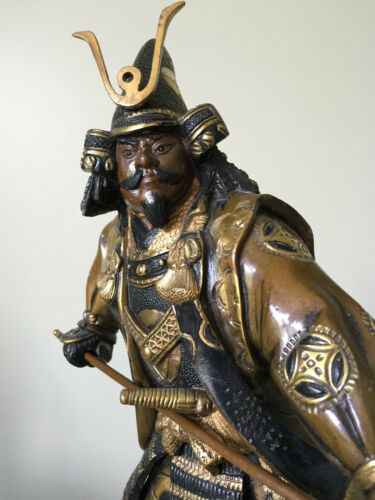 Bronze Detailed Okimona Samurai Warrior Figure15