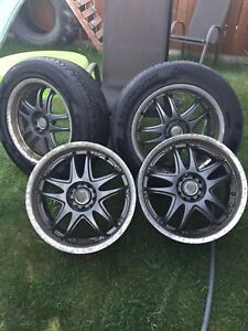 BMW 4 rims and 2 tires