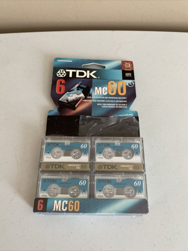 Tdk Mc60 Dictation Answering Machines Set of 4 Cassettes Free Shipping