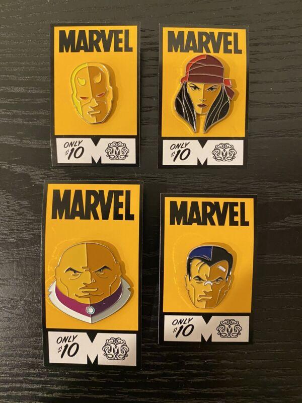Tom Whalen Daredevil Elektra Kingpin Punisher Pin Set Marvel Mondo Pins