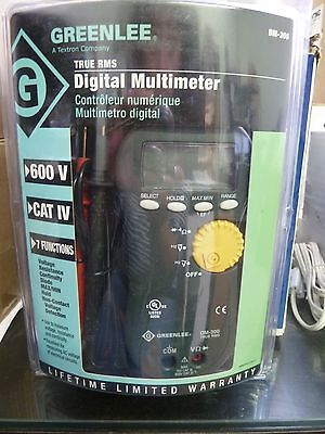 Greenlee Dm-300 True Rms Digital Multimeter 600vcat Iv7 Functions